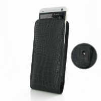 10% OFF + FREE SHIPPING, Buy PDair Top Quality Handmade Protective HTC One Pouch Case with Belt Clip (Black Croc Pattern) online. You also can go to the customizer to create your own stylish leather case if looking for additional colors, patterns and type