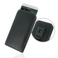 Leather Vertical Pouch Belt Clip Case for HTC One E8