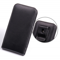 HTC One mini Pouch Case with Belt Clip PDair Premium Hadmade Genuine Leather Protective Case Sleeve Wallet