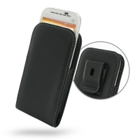Leather Vertical Pouch Belt Clip Case for HTC One SV C525e
