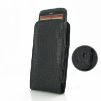 10% OFF + FREE SHIPPING, Buy PDair Quality Handmade Protective HTC One X / One XL Pouch Case with Belt Clip (Black Croc Pattern) online. You also can go to the customizer to create your own stylish leather case if looking for additional colors, patterns a