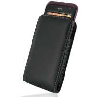 Leather Vertical Pouch Belt Clip Case for HTC Rhyme S510b/HTC Bliss (Black)