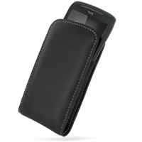 Leather Vertical Pouch Belt Clip Case for HTC Snap/HTC S522/HTC Maple 100 (Black)