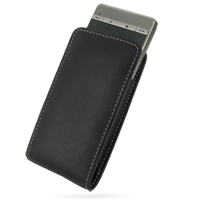 Leather Vertical Pouch Belt Clip Case for HTC Touch Diamond 2 (Black)