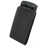 Leather Vertical Pouch Belt Clip Case for HTC Touch HD T8282 (Black)