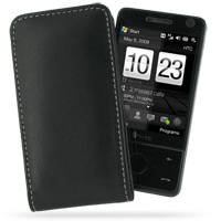 Leather Vertical Pouch Belt Clip Case for HTC Touch Pro (Black)