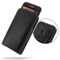 Huawei Ascend D1 XL Pouch Case with Belt Clip PDair Premium Hadmade Genuine Leather Protective Case Sleeve Wallet