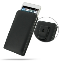 Huawei Ascend D2 Pouch Case with Belt Clip PDair Premium Hadmade Genuine Leather Protective Case Sleeve Wallet