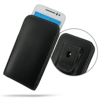 Leather Vertical Pouch Belt Clip Case for Huawei Ascend G330D U8825D
