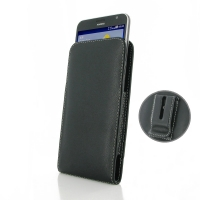 Huawei Ascend GX1 Pouch Case with Belt Clip PDair Premium Hadmade Genuine Leather Protective Case Sleeve Wallet