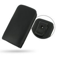 Huawei Ascend P1 LTE Pouch Case with Belt Clip PDair Premium Hadmade Genuine Leather Protective Case Sleeve Wallet