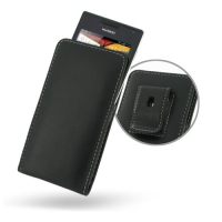 Huawei Ascend P1 U9200 Pouch Case with Belt Clip PDair Premium Hadmade Genuine Leather Protective Case Sleeve Wallet