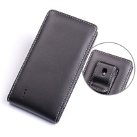 Huawei Ascend P2 Pouch Case with Belt Clip PDair Premium Hadmade Genuine Leather Protective Case Sleeve Wallet