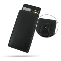 Huawei Ascend P6 Pouch Case with Belt Clip PDair Premium Hadmade Genuine Leather Protective Case Sleeve Wallet