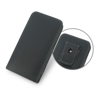 Huawei Ascend W2 Pouch Case with Belt Clip PDair Premium Hadmade Genuine Leather Protective Case Sleeve Wallet