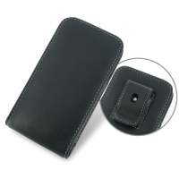 Huawei Ascend Y511 Pouch Case with Belt Clip PDair Premium Hadmade Genuine Leather Protective Case Sleeve Wallet