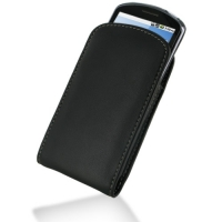 Leather Vertical Pouch Belt Clip Case for Huawei IDEOS X5 U8800 (Black)