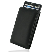 Leather Vertical Pouch Belt Clip Case for Huawei IDEOS X6 U9000/Huawei Ascend X (Black)