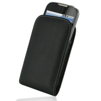 Huawei U8650 Pouch Case with Belt Clip (Black) PDair Premium Hadmade Genuine Leather Protective Case Sleeve Wallet