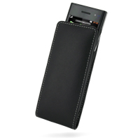 Leather Vertical Pouch Belt Clip Case for LG BL40 New Chocolate (Black)