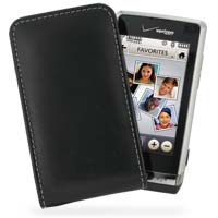 Leather Vertical Pouch Belt Clip Case for LG Dare VX9700 (Black)
