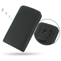 Nexus 5 (in Slim Cover) Pouch Clip Case PDair Premium Hadmade Genuine Leather Protective Case Sleeve Wallet
