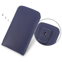 Nexus 5 Pouch Case with Belt Clip (Purple) PDair Premium Hadmade Genuine Leather Protective Case Sleeve Wallet