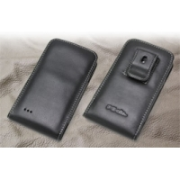 LG isai LGL22 Pouch Case with Belt Clip PDair Premium Hadmade Genuine Leather Protective Case Sleeve Wallet