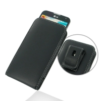LG L90-D410 Pouch Case with Belt Clip PDair Premium Hadmade Genuine Leather Protective Case Sleeve Wallet