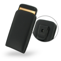 Nexus 4 Pouch Case with Belt Clip PDair Premium Hadmade Genuine Leather Protective Case Sleeve Wallet
