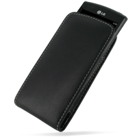 Leather Vertical Pouch Belt Clip Case for LG Optimus 7 E900 (Black)