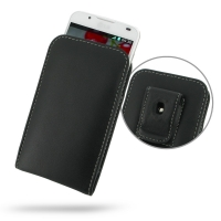 LG Optimus L7 II Dual Pouch Case with Belt Clip PDair Premium Hadmade Genuine Leather Protective Case Sleeve Wallet