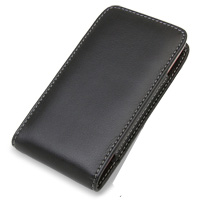 Leather Vertical Pouch Belt Clip Case for LG Optimus LTE L-01D (Black)