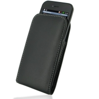 LG Optimus SOL Pouch Case with Belt Clip PDair Premium Hadmade Genuine Leather Protective Case Sleeve Wallet