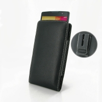 LG Spirit Pouch Case with Belt Clip PDair Premium Hadmade Genuine Leather Protective Case Sleeve Wallet