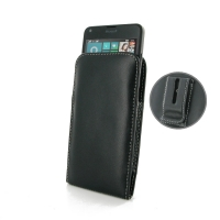 Microsoft Lumia 640 LTE Pouch Case with Belt Clip PDair Premium Hadmade Genuine Leather Protective Case Sleeve Wallet