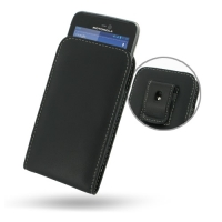Motorola Atrix HD Pouch Case with Belt Clip PDair Premium Hadmade Genuine Leather Protective Case Sleeve Wallet