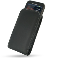 Motorola Defy XT535 Pouch Case with Belt Clip PDair Premium Hadmade Genuine Leather Protective Case Sleeve Wallet