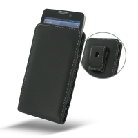 Leather Vertical Pouch Belt Clip Case for Motorola Droid Razr Maxx HD
