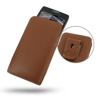Leather Vertical Pouch Belt Clip Case for Motorola Droid Razr Maxx HD (Brown)