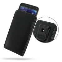Motorola Electrify M Pouch Case with Belt Clip PDair Premium Hadmade Genuine Leather Protective Case Sleeve Wallet