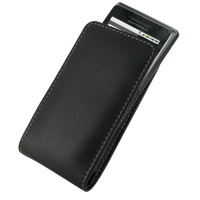 Leather Vertical Pouch Belt Clip Case for Motorola Milestone 2 A953/DROID 2 A955 (Black)