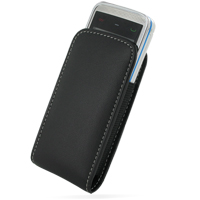 Nokia 5530 XpressMusic Pouch Case with Belt Clip (Black) PDair Premium Hadmade Genuine Leather Protective Case Sleeve Wallet