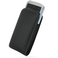 Leather Vertical Pouch Belt Clip Case for Nokia 5530 XpressMusic (Black)