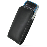Nokia 5730 XpressMusic Pouch Case with Belt Clip (Black) PDair Premium Hadmade Genuine Leather Protective Case Sleeve Wallet