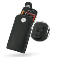 Nokia 808 PureView Pouch Case with Belt Clip PDair Premium Hadmade Genuine Leather Protective Case Sleeve Wallet