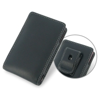 Nokia Asha 503 Pouch Case with Belt Clip PDair Premium Hadmade Genuine Leather Protective Case Sleeve Wallet