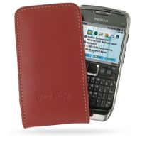 Leather Vertical Pouch Belt Clip Case for Nokia E71 (Red)