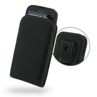 Nokia Lumia 510 Pouch Case with Belt Clip PDair Premium Hadmade Genuine Leather Protective Case Sleeve Wallet