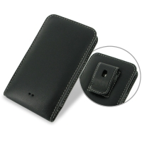 Nokia Lumia 625 Pouch Case with Belt Clip PDair Premium Hadmade Genuine Leather Protective Case Sleeve Wallet
